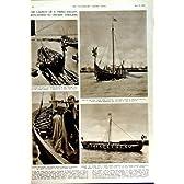 1949 年のウィンブルドンのスポーツのテニスのヴァイキングの船 Huginn Hedtoft