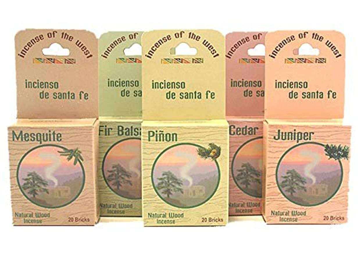 定期的な肘掛け椅子デッキInciensio Sante Fe : Best Seller Assorted 100 Incenseレンガ