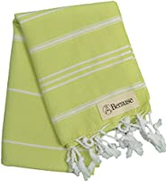 Bersuse 100% Cotton - Anatolia Hand Turkish Towel - Head Hair Face Baby Care Kitchen - 22X35 Inches, Pistacho