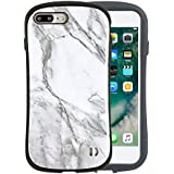 iFace First Class Marble iPhone 8Plus/7Plus ケース 耐衝撃/ホワイト