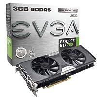 EVGA GeForce GTX 780デュアルFTWグラフィックスカードwith ACXクーラー3GB gddr5384-bit 03g-p4–3784-kr
