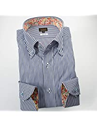 RSD141-004 (スタイルワークス) メンズ長袖ワイシャツ ストライプ | 青