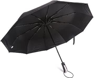 UMENGX 折りたたみ傘 ワンタッチ自動開閉 晴雨兼用 耐強風 頑丈 日傘 UVカット 100%完全遮光 遮熱 涼感 (傘袋付) 116cm Teflon撥水加工 10本骨 210T高強度グラスファイバー