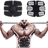 ABS Fitness Muscle Trainer, 2018 EMS Remote Control Abdominal Muscle Trainer Smart Home Exercise Bodybuilding Fitness Electrical Stimulator Pads (Only Abdominal Pad)
