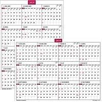 壁掛カレンダー【2019年 1月始まり】A2 ブロックプランナー CK-34