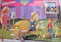 バービーSo Real So Now Summer Garden Playset w Fauxウィッカー家具& Lots more ( 1998Arcotoys , Mattel )