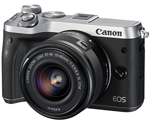 Canon ミラーレス一眼カメラ EOS M6 レンズキット(シルバー) EF-M15-45mm F3.5-6.3 IS STM 付属 EOSM6SL-1545ISSTMLK