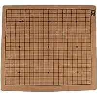 Baoblaze チェスゲーム チェスボード スエードレザー チェッカーボード 両面 チェス盤 全2サイズ - 60x54cm