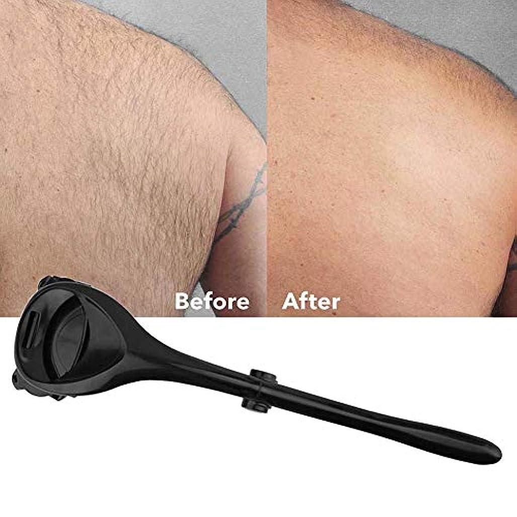 ボーダートラクターラインバックシェーバーロング男性の女性のための脱毛戻る髪レイザーパーソナル無痛体毛トリマーハンドル
