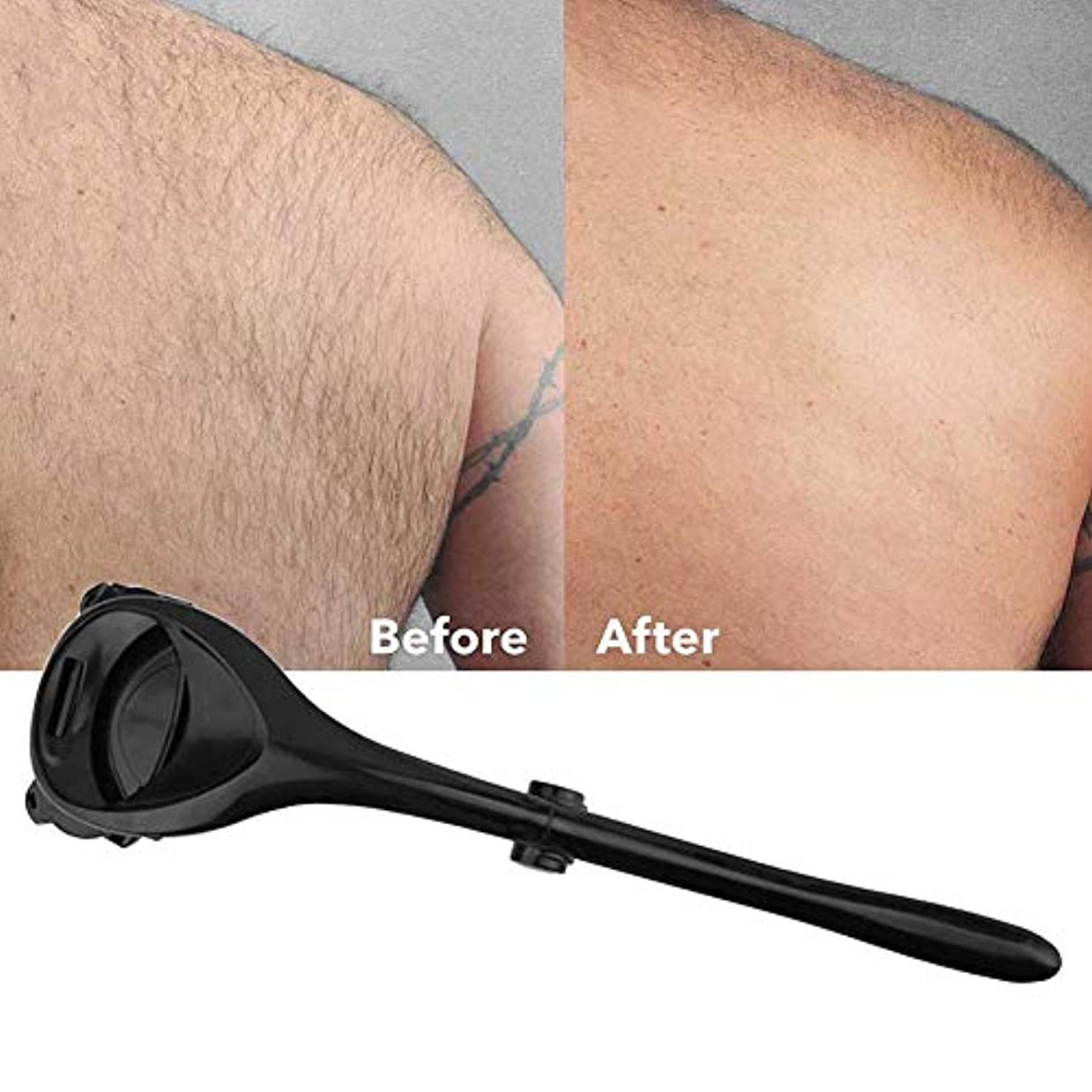 隔離する欲望ログバックシェーバーロング男性の女性のための脱毛戻る髪レイザーパーソナル無痛体毛トリマーハンドル