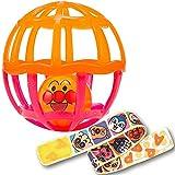 アンパンマン ストラップ付きしゃかしゃかボール クリアオレンジ