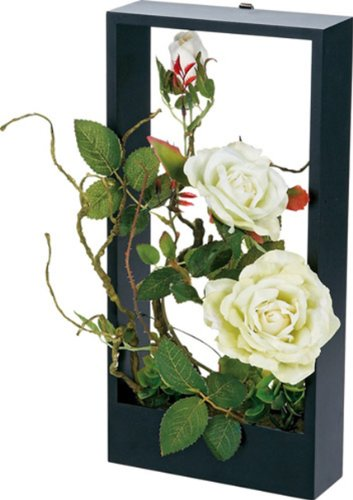 ユーパワー Flower Art ウォールフラワーアート ローズ グリーン FL-04031