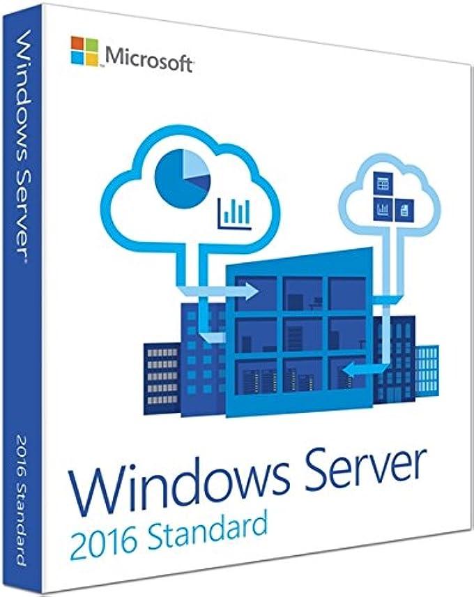蛾看板維持Windows Server2016 Standard 64 Bit 日本語版AE DVD (16コアライセンス、5CAL付き)