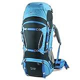 Mountaintop 65L+10L 防撥水 登山リュック キャンプバッグパック ハイキング 旅行バッグ レインカバー付き アウトドア-5821