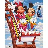 Walt Disney – ミッキー&フレンズ:ジェットコースター ファインアート プリント (40.64 x 50.80 cm)