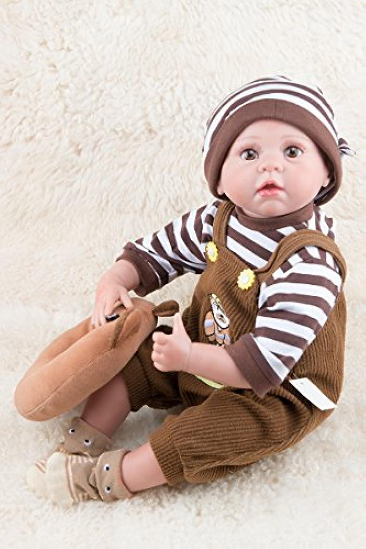 LovelyソフトシリコンRealistic Lifelike Rebornベビー人形Handmade解剖学的に正しい新生児少年22インチ