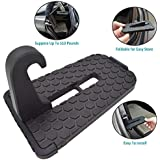 GOSETH for Car Doorstep, Aluminum Alloy Vehicle Pedal Easy Access to Car Rooftop Roof-rack, Car Doorstep Hook Foot Pegs Treadle for Car, Jeep, SUV.