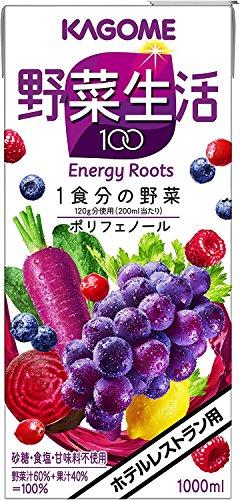 カゴメ ホテルレストラン用 野菜生活100 エナジールーツ 1L