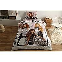 元Licensed Winxマジックスタイルシングル/ツインサイズ3個寝具セット、100 %コットン布団/掛け布団カバーセット布団カバー、ボックスシーツ、枕ケース