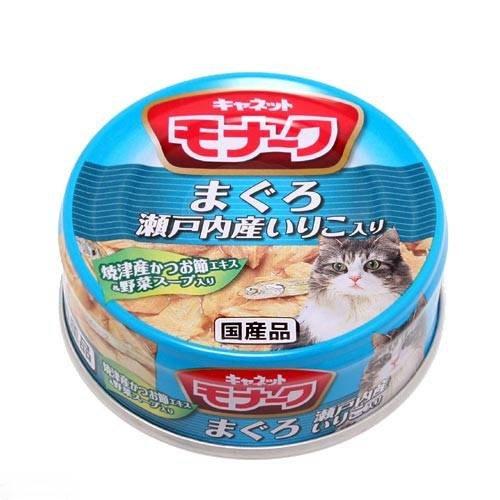 ペットライン キャネット モナーク 缶 まぐろ・瀬戸内産いりこ入り 80g キャットフード キャネット 2缶入り