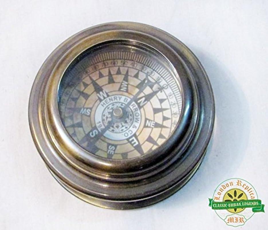 困難爪ランクNautical古代ソリッド真鍮アンティークフローティングダイヤルDoom Co