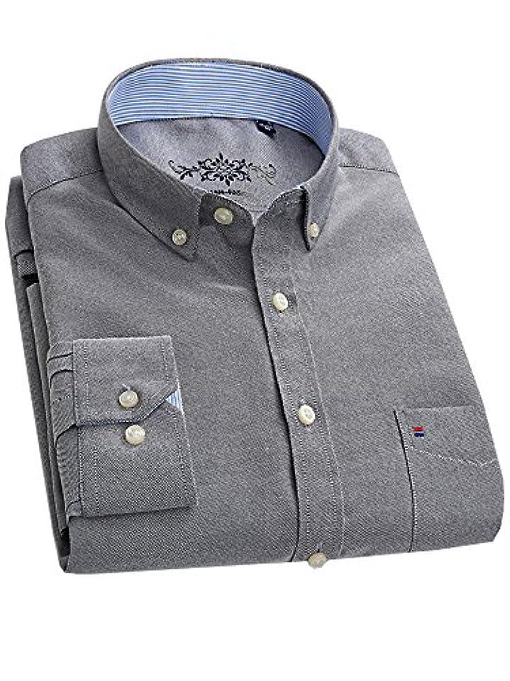 病気だと思う後方動かない(ワイ-ミー) Y-ME 長袖ワイシャツカジュアルビジネス紳士長袖シャツ gray-O 39