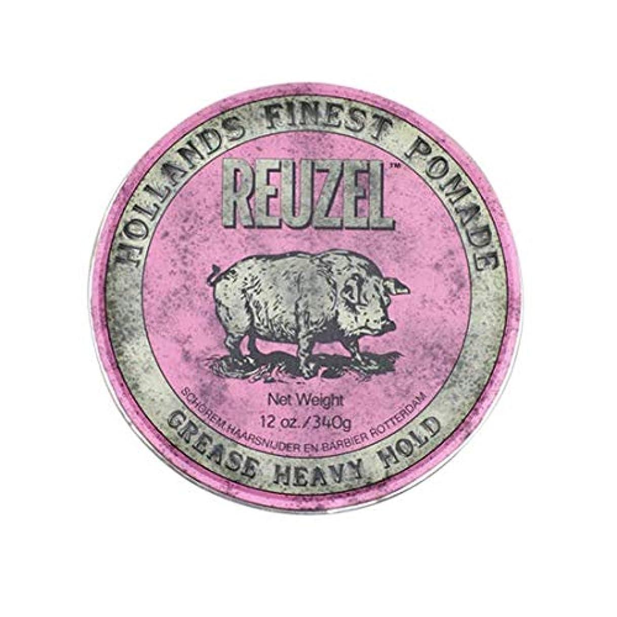 肘掛け椅子征服するクマノミルーゾー(REUZEL) ヘビーホールド ピンク MIDIUM SHINE 340g