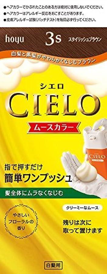 ホーユー シエロ ムースカラー 3S (スタイリッシュブラウン)×6個