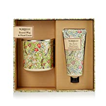 Morris & Co Enamel Mug and Shea Butter Hand Cream in gift Box, 2 Count