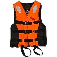 (ナイス ディズ)Nice Days  ライフジャケット&救命胴衣 シーサイドフローティング?アウトドアベスト(体重95kg以下) (オレンジ色, XL)