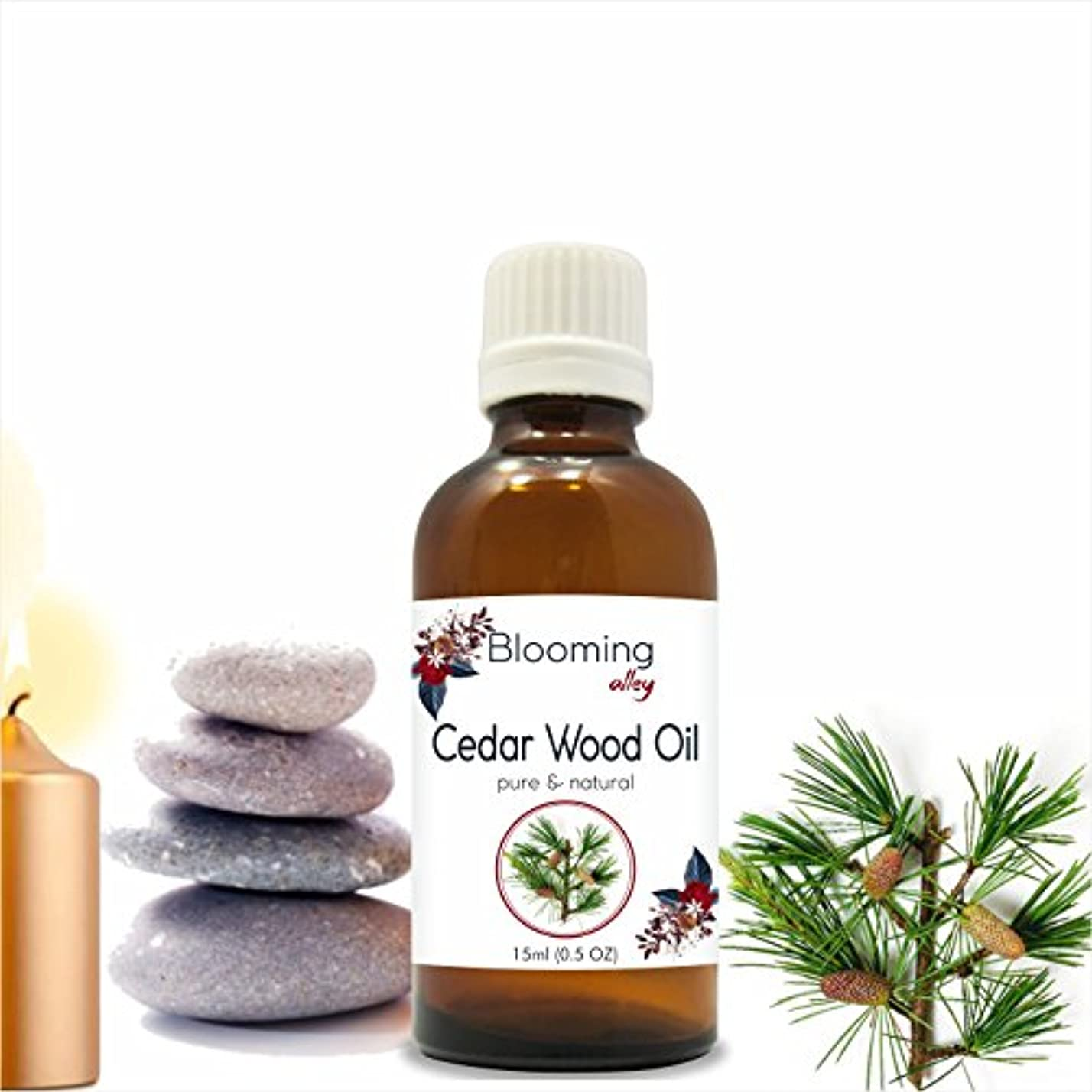 市町村トリプル頼むCedarwood Oil (Juniperus Virginiana) Essential Oil 15 ml or .50 Fl Oz by Blooming Alley