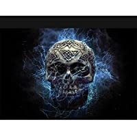 Diy 5 D頭蓋骨写真ウォールステッカーダイヤモンドモザイクダイヤモンド絵画クロスステッチダイヤモンド刺繍家の装飾,30x40cm