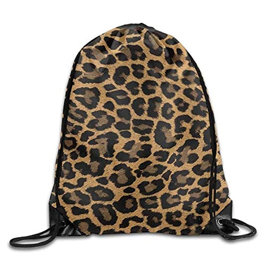 社会主義者申し込む辞任する巾着袋ジムバッグ旅行バックパック、ヒョウ柄、旅行巾着袋用女性男性大人