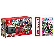 【Amazon.co.jp限定】Nintendo Switch スーパーマリオ オデッセイセット+スプラトゥーン2[オンラインコード:ソフトはメールで配信]+オリジナルラゲッジタグ