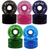 (4pk, Pink) - Atom Pulse Outdoor Quad Roller Skate Wheels