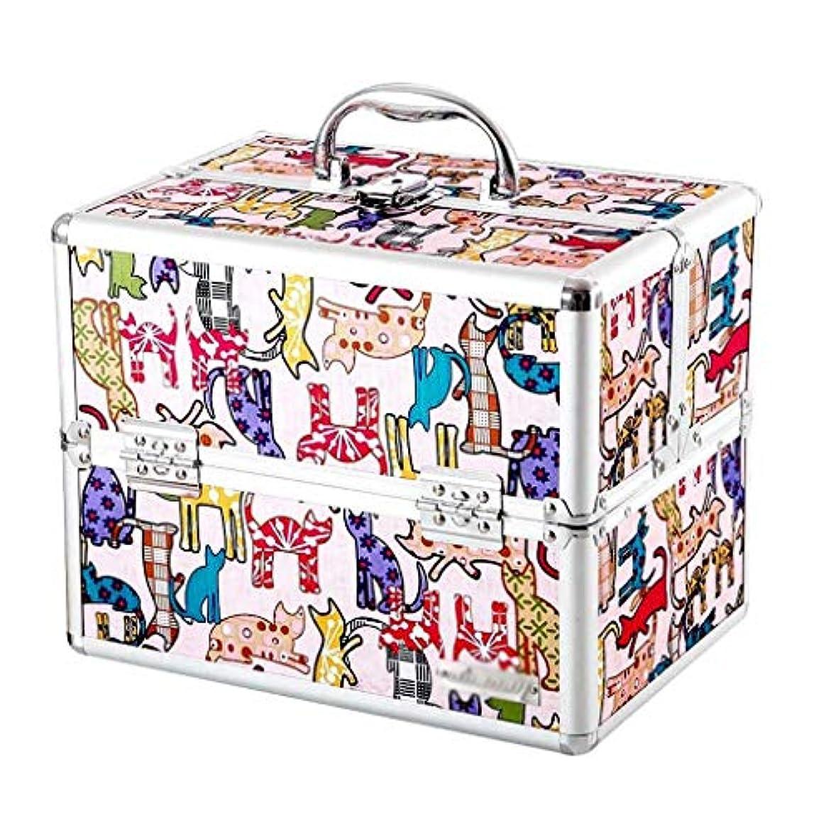 頑張る臭い新しさYxsd 応急処置キット ロックとコンパートメント付き医療ボックス、応急処置ボックス緊急医療キャビネットケース、漫画多層応急処置キット収納ボックス (Color : Light pink)