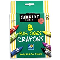 Sargent Art 22-0589 5-Inch by 9/16-Inch The Big Ones-8-Crayons and Peggable [並行輸入品]