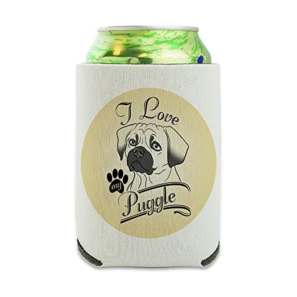 本土証明発行する私は私のPuggleを愛する Can Cooler - ドリンクスリーブハガーCollapsible Insulator - Beverage Insulated Holder