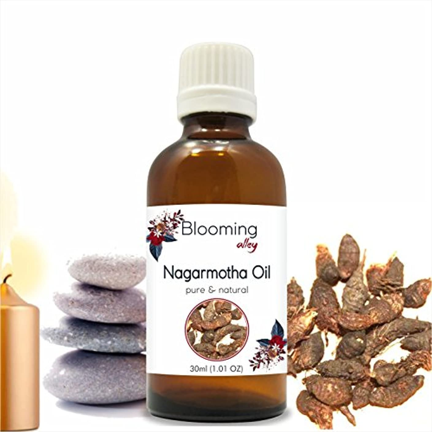敏感な借りるコンペNagarmotha Oil(Cyprus Scariosus) Essential Oil 30 ml or 1.0 Fl Oz by Blooming Alley