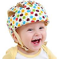 CREDIBLE ベビー?幼児 用 可愛い 洗える スポンジ ヘルメット 綿100% CREDIBLE®オリジナルバッグ付 (マルチカラー)