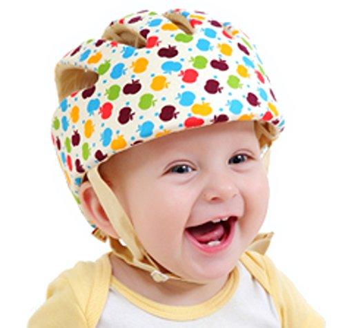 CREDIBLE ベビー・幼児 用 可愛い 洗える スポンジ ヘルメット 綿100% CREDIBLE®オリジナルバッグ付 (マルチカラー)