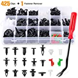 GOOACC GRC-83 425 Pcs Car Body Retainer Assortment Tailgate Handle Rod Clip & Fastener Remover-19 Most Popular Sizes Auto Push Pin Rivets Set-Door Trim Panel Clips for GM Ford Chevy Toyota Honda