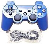 ラークデジタル PS3 有線コントローラー USBケーブル付 ブルー
