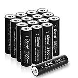 Bonai 単3形 充電池 充電式ニッケル水素電池 16個パック PSE/CEマーキング取得 UL認証済み(高容量2800mAh 約1200回使用可能)