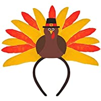 Amscan Festive Fall Thanksgiving Party Turkey Tiara Wearables Multicolor 12 x 12 [並行輸入品]