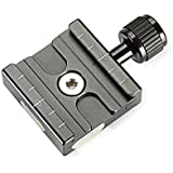 Neewer Aluminium 50mm Quick Release Plate QR Clamp 3/8-inch with 1/4-inch Adapter and Built-in Bubble Level for Benro Acratech Kirk Wimberley Gitzo Manfrotto RRS Arca Swiss and Other Arca-Style Quick Release Plate