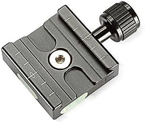 Neewer® アルミ50mmのクイックリリースプレート QRクランプ 3/8インチ、1/4インチアダプターと内蔵バブルレベル