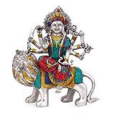 エーワンインドに座っているライオンDurga Idol Religious Goddess Hindu Devi Maa Durga真鍮sculptures-deityドゥルガー+現金封筒( 10個パック)