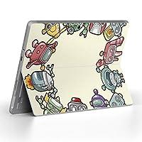 Surface go 専用スキンシール サーフェス go ノートブック ノートパソコン カバー ケース フィルム ステッカー アクセサリー 保護 ユニーク ロボット イラスト 006692