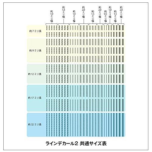 ハイキューパーツ ラインデカール2 ホワイト 1枚入 プラモデル用デカール LINED02-WHI